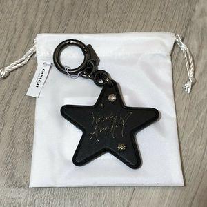 Coach X Selena Gomez Star Keychain Bag Charm Black